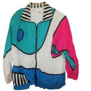 1990s vintage windbreaker jacket size large